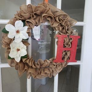 Other - Burlap initial wreath